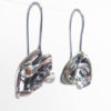 Abstract Layered Sterling Silver Cast Drop Earrings – Rounded Triangles