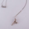 Abstract Sterling Silver Layered Arrowhead Necklace