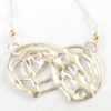 "Sterling Silver and 14k Gold ""Infinity"" Necklace"