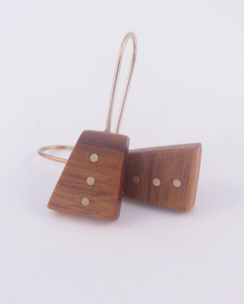 Canarywood and Gold-Filled Inlay Dot Trio Earrings