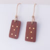 African Padauk and Gold-Filled Inlay Dice Earrings