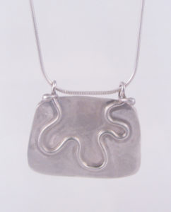 Imperial Jasper and Sterling Silver Wave Necklace