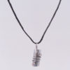 Sterling Silver Coil Column Necklace with Hemp Cord