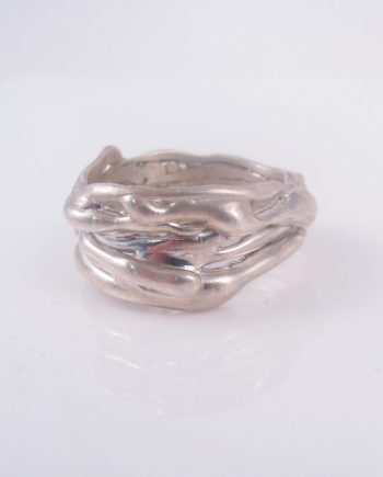 Sterling Silver Tangled Vine Ring, Size 11.25