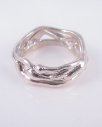 Abstract Vine Band Ring, Size 13