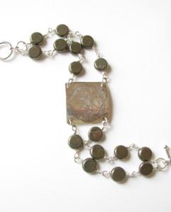 Marcasite & Etched Sterling Silver Bracelet