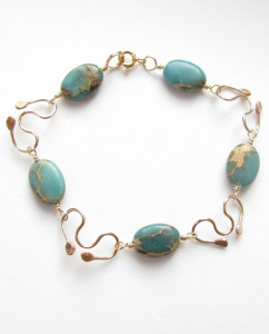 Aqua Terra Jasper and Gold-Filled Bracelet