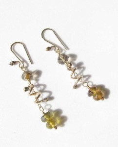 Citrine and Gold-Filled Spiral Earrings