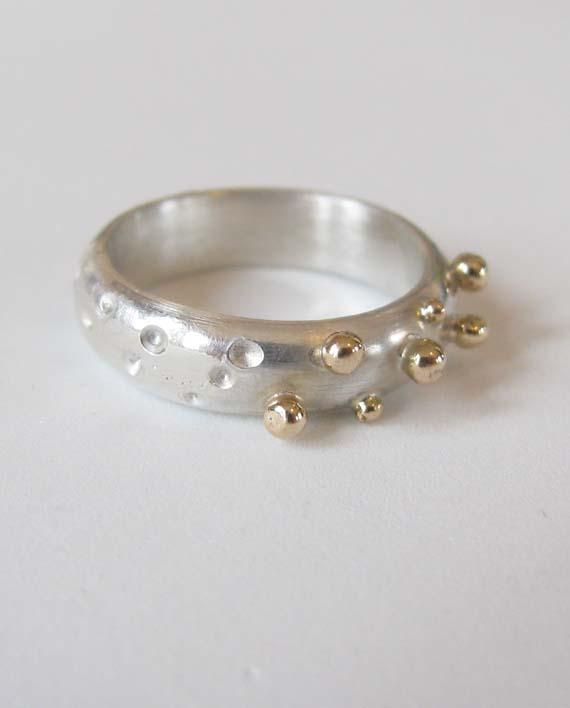 14k Gold & Sterling Silver Ring