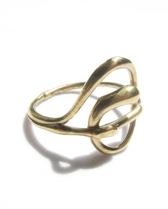 Red Bronze Thin Wave Ring