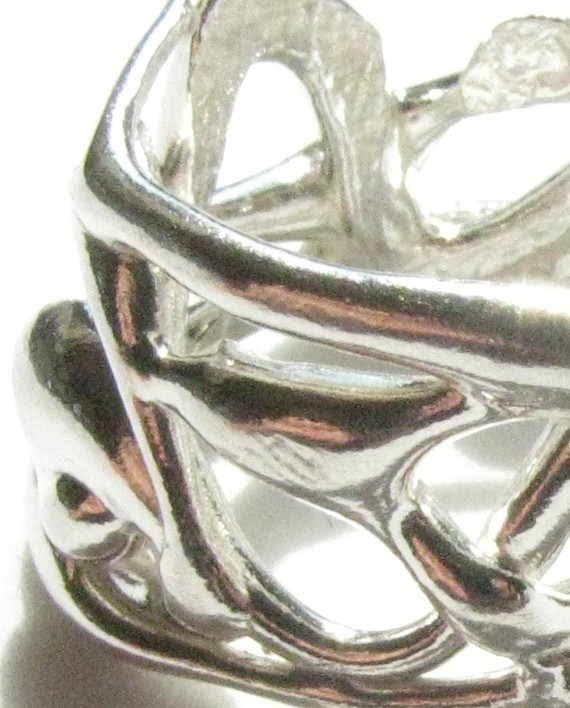 Sterling Silver Abstract Ring, Size 4.5