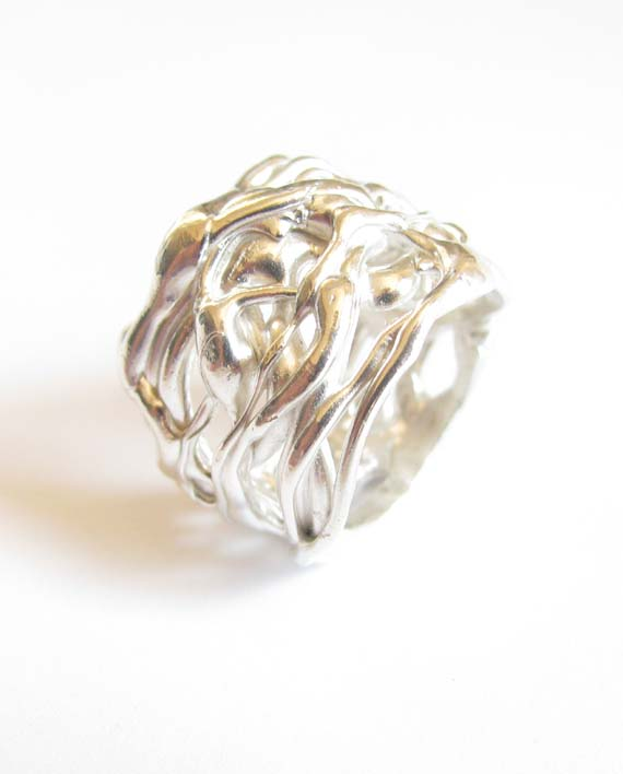 Sterling Silver Abstract Multi-Layer Ring