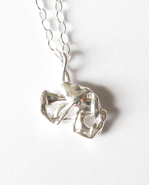Abstract Sterling Silver Asymmetrical Cluster Necklace