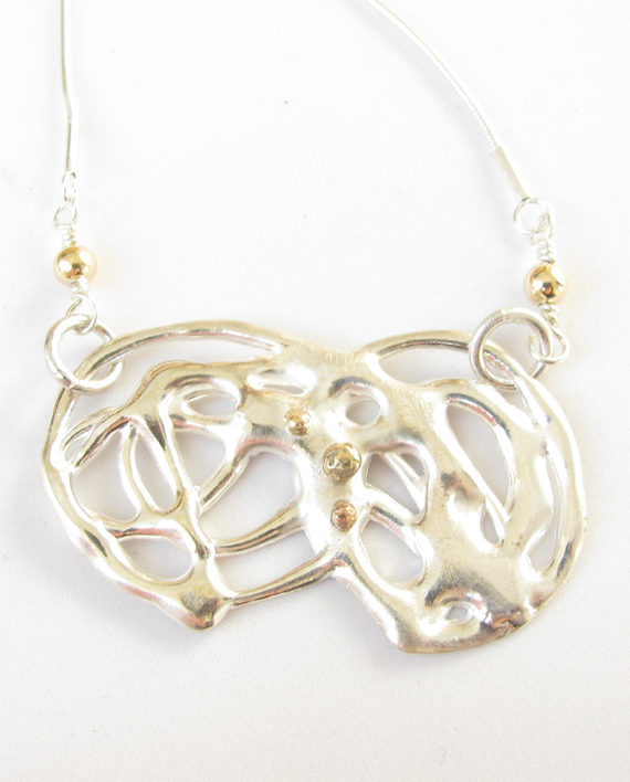 """Sterling Silver and 14k Gold """"Infinity"""" Necklace"""