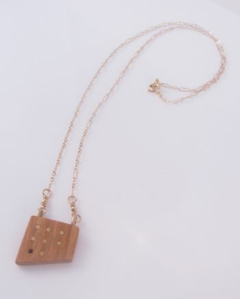 Canarywood and Gold-Filled Inlay Dot Grid Necklace