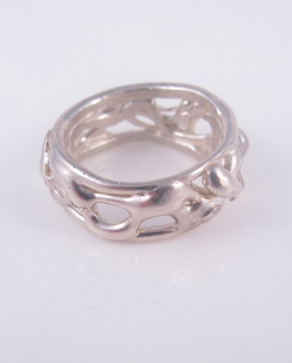 Sterling Silver Vine Band, Size 10